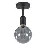 Moderne mat zwarte plafondlamp wc, hal