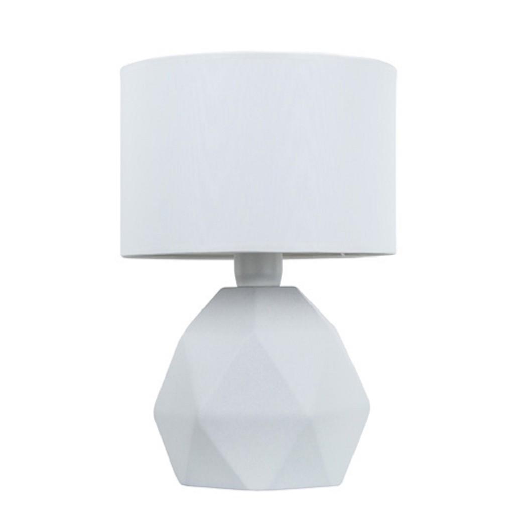 *Stenen vaaslamp-schemerlamp wit