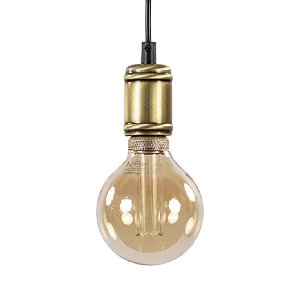 Landelijke pendel hanglamp brons