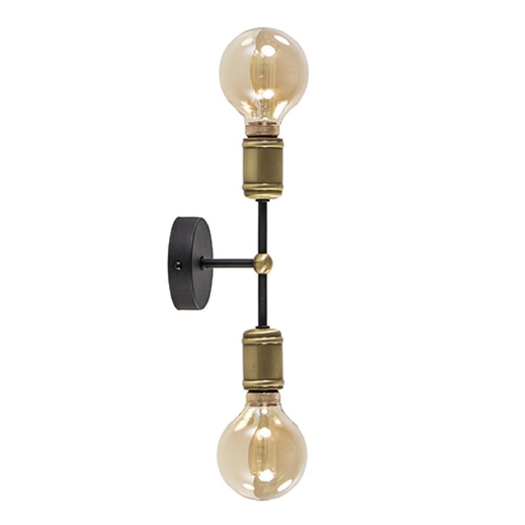 Klassieke wandlamp zwart-antiek brons