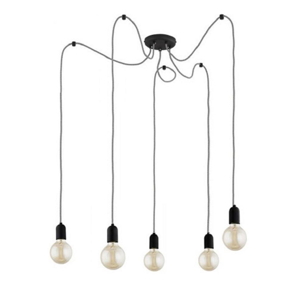 Hangpendel spinlamp 5-lichts zwart