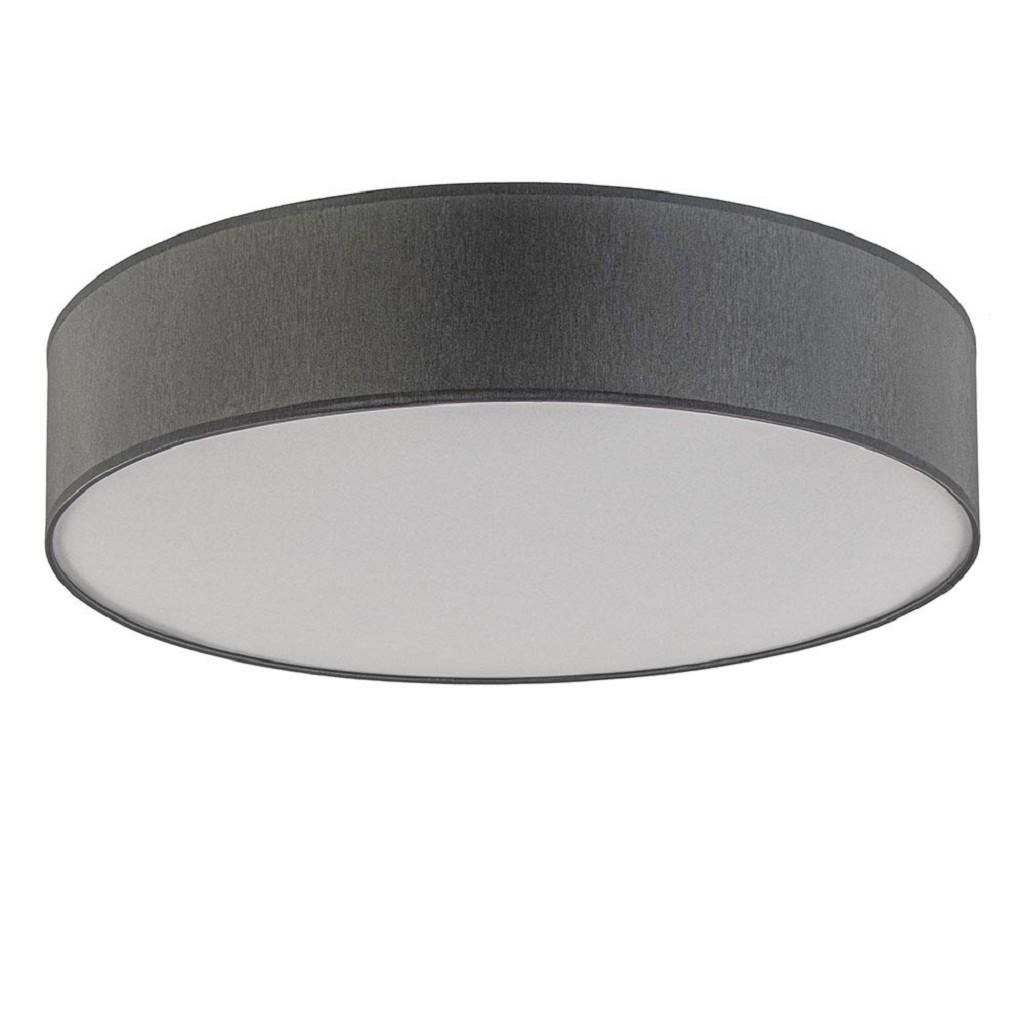 Plafondlamp cilinderkap grijs 60cm