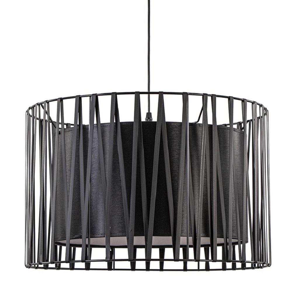 Zwarte hanglamp dubbele kap 50 cm