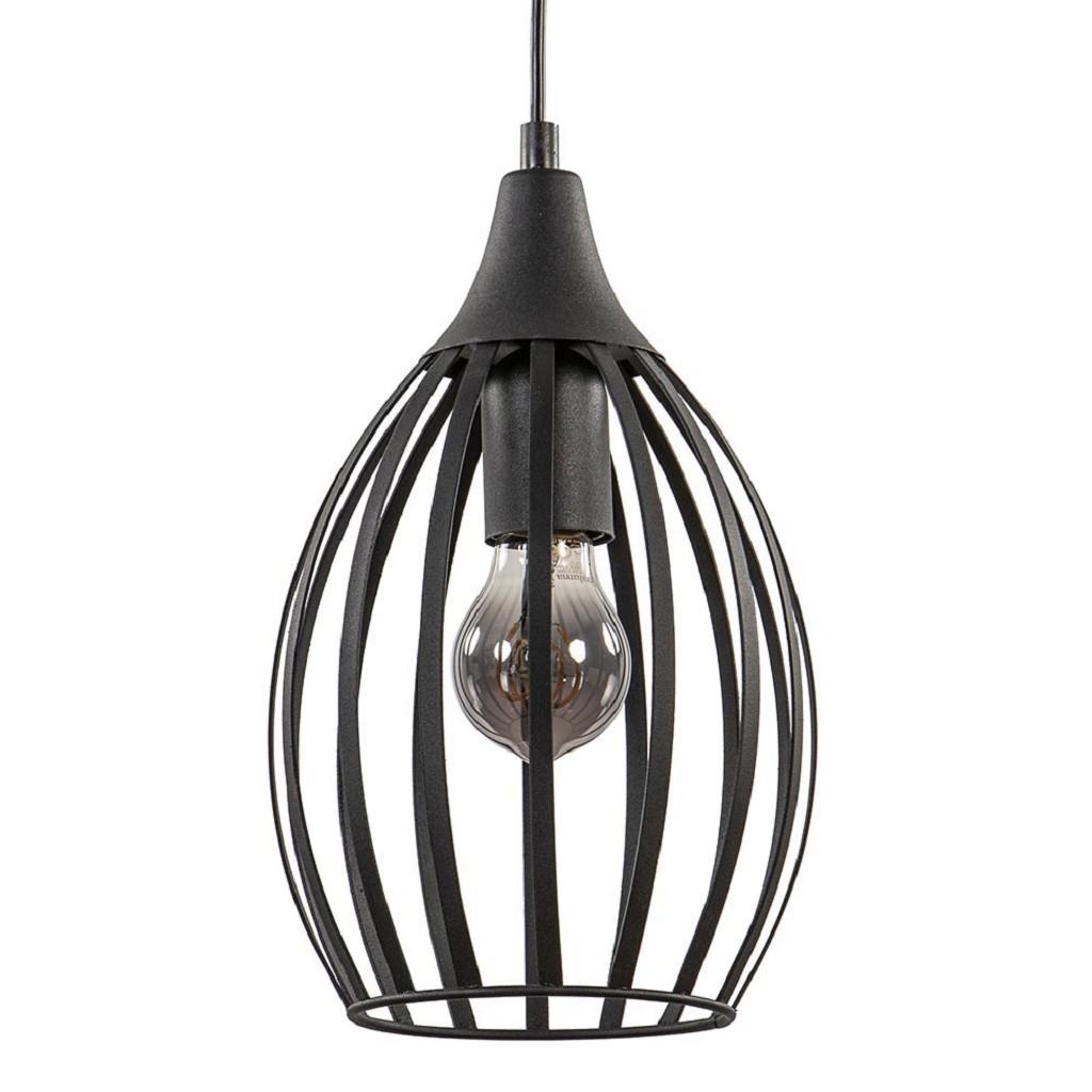 Moderne draad hanglamp met zwart snoer