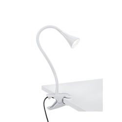 Buigbare klemlamp wit inclusief LED