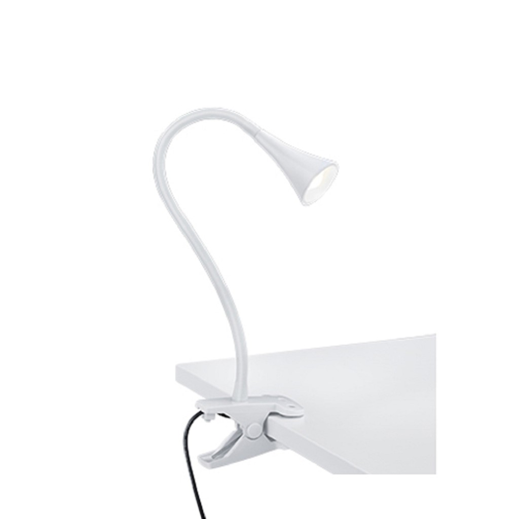Buigbare klemlamp wit inclusief LED