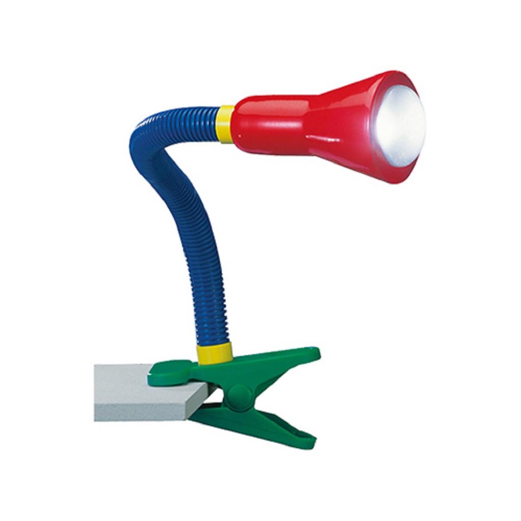 Klemlamp kinderkamer rood/blauw/groen