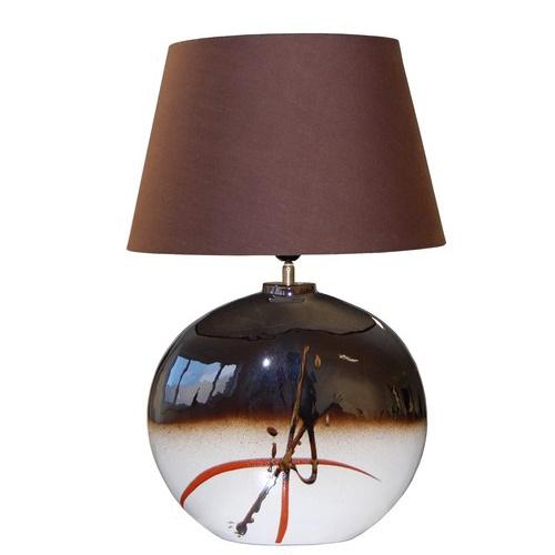 Keramiek tafellamp bruin,dressoir