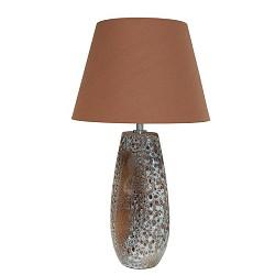 Keramieke decoratieve tafellamp bruin