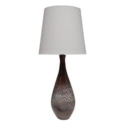 Tafellamp bruin met creme kap