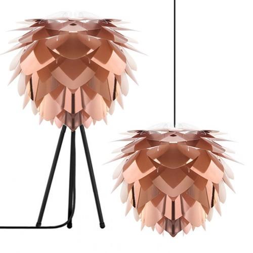 *Trendy koper hanglamp Silvia mini hal