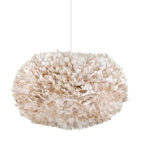 Romantische hanglamp Xl veren bruin