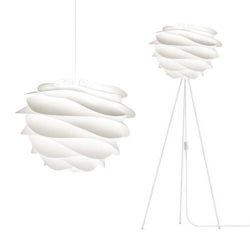 *Scandinavische hanglamp Carmina wit