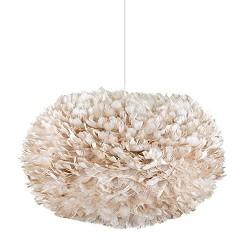 *Romantische hanglamp Xl veren bruin