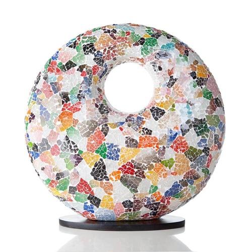 Tafellamp met gat multicolor mozaic