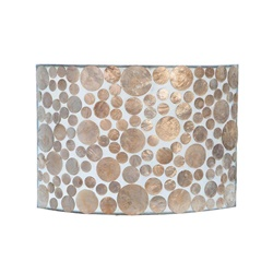 Romantische Schelpen wandlamp coin beige