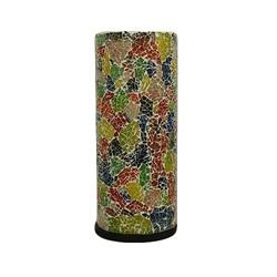 Zuil tafellamp gerecycled gekleurd glas