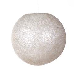 Schelpen hanglamp bol 40 cm wit/parelmoer