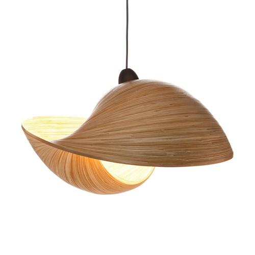 Bamboe hanglamp schelp 50 cm