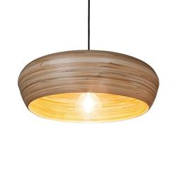 Ronde hanglamp koepel bamboe 50 cm