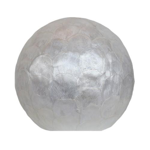 Tafellamp ball 30 cm rond creme schelpen