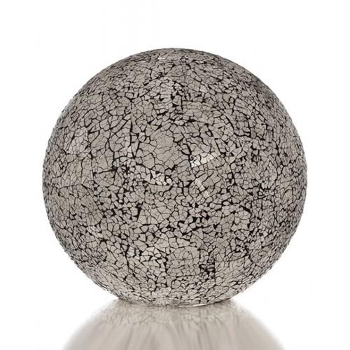 Tafellamp 30cm glas wit,zwart dressoir