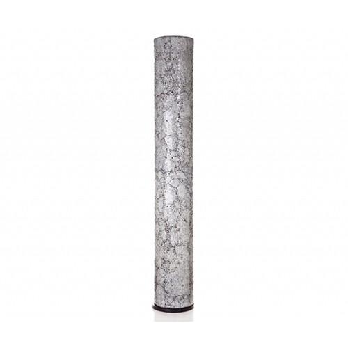 Vloerlamp 200 cm gerecycled glas wit