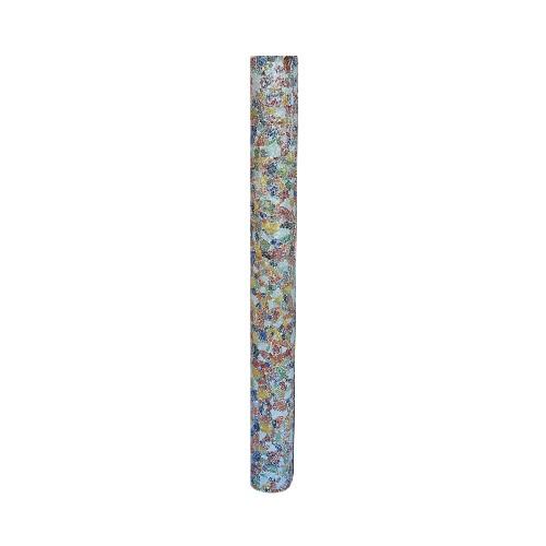 Glazen vloerlamp zuil gekleurd glas