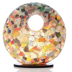 Tafellamp 48 cm gerecycled gekleurd glas