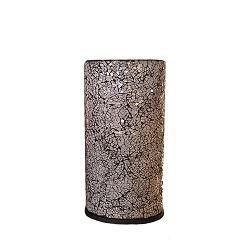 *Sfeervolle tafellamp zuil glas zwart-