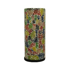 *Zuil tafellamp gerecycled gekleurd glas