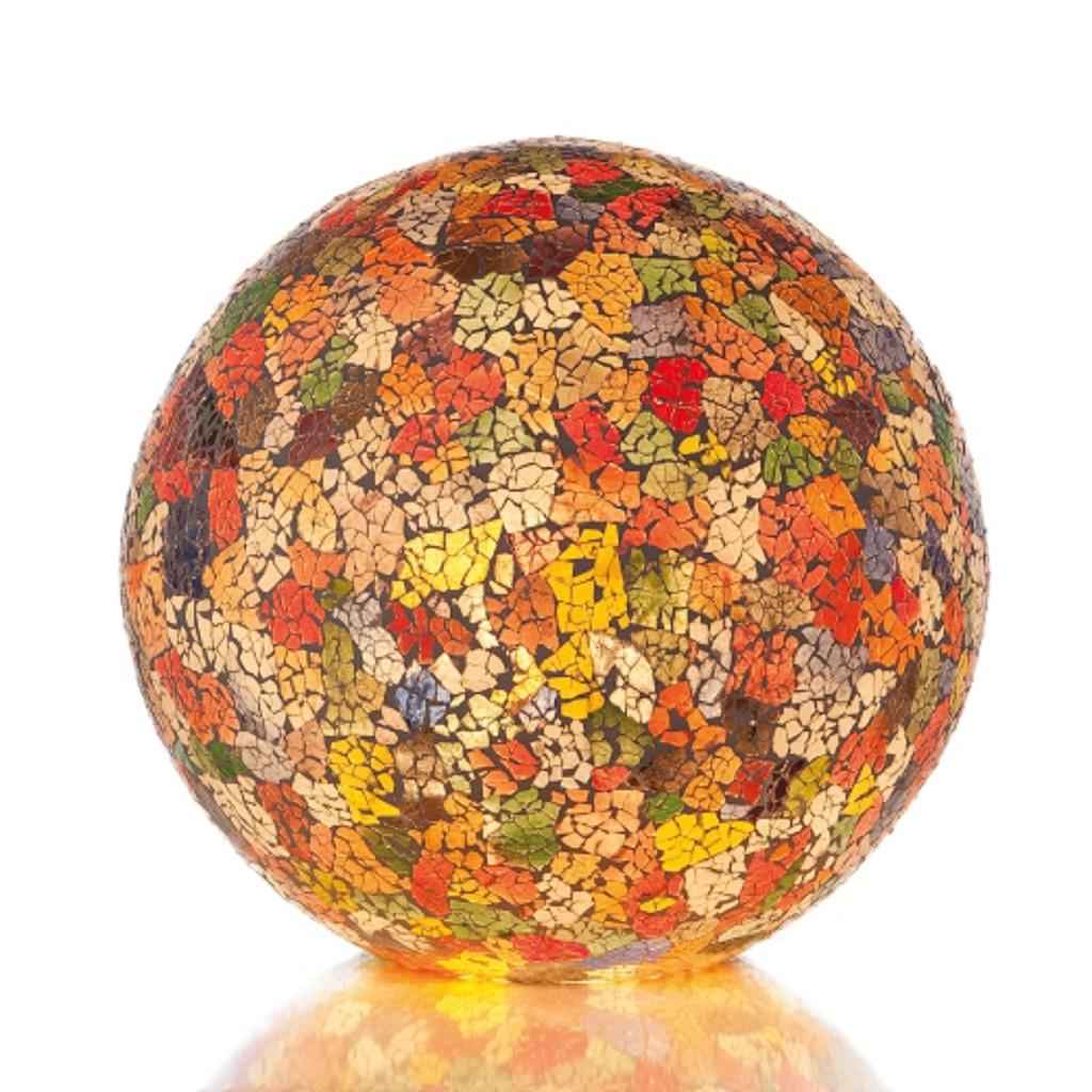 Decoratieve tafellamp gekleurd glas bol
