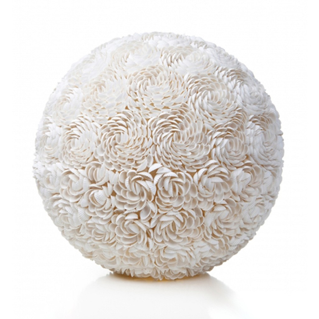 Romantische tafellamp schelpen rozen