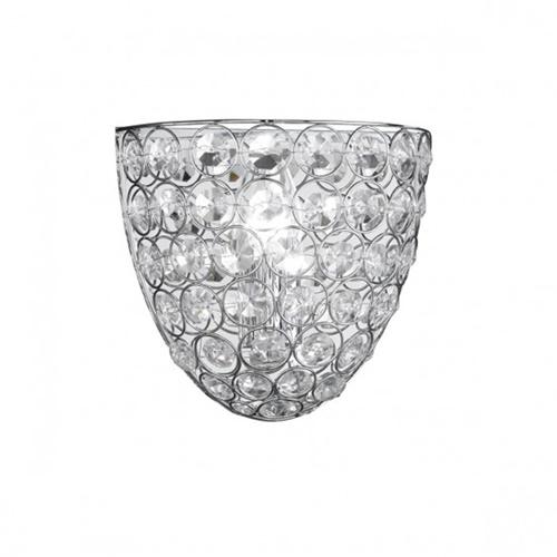 Wandlamp kristal chroom keuken-hal