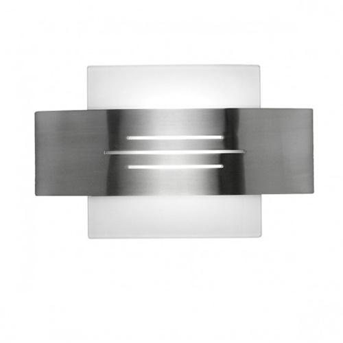 Wandlamp nikkel mat, glas modern