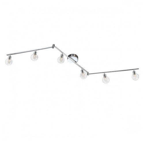 Rails plafond 6 lichts verstelbaar hal