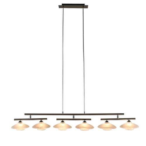 Hanglamp eettafel nikkel mat, glas