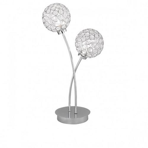 Tafellamp chroom met bollen modern