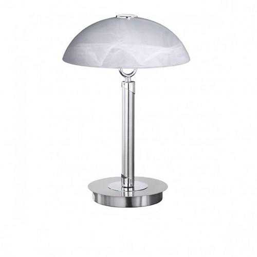 Tafellamp staal met glas