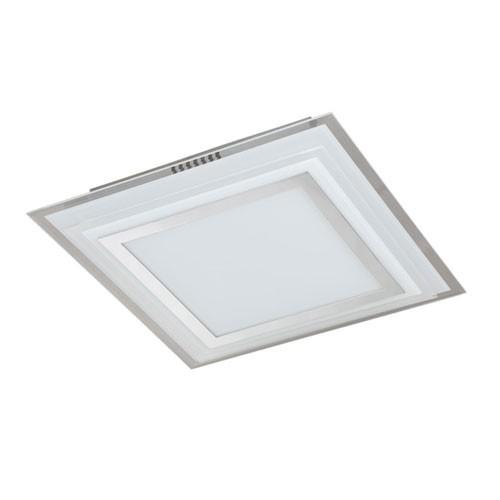 Design LED lamp plafond vierkant glas