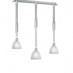 Hanglamp nikkel mat, wit glas modern