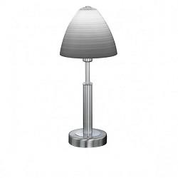 Tafellamp nikkel, wit, glas