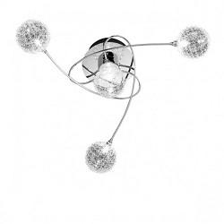 *Plafondlamp chroom, glas bollen halo