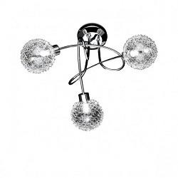 Plafondlamp chroom met bollen