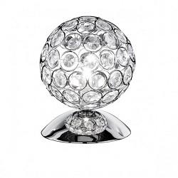 Tafellamp chroom met glas