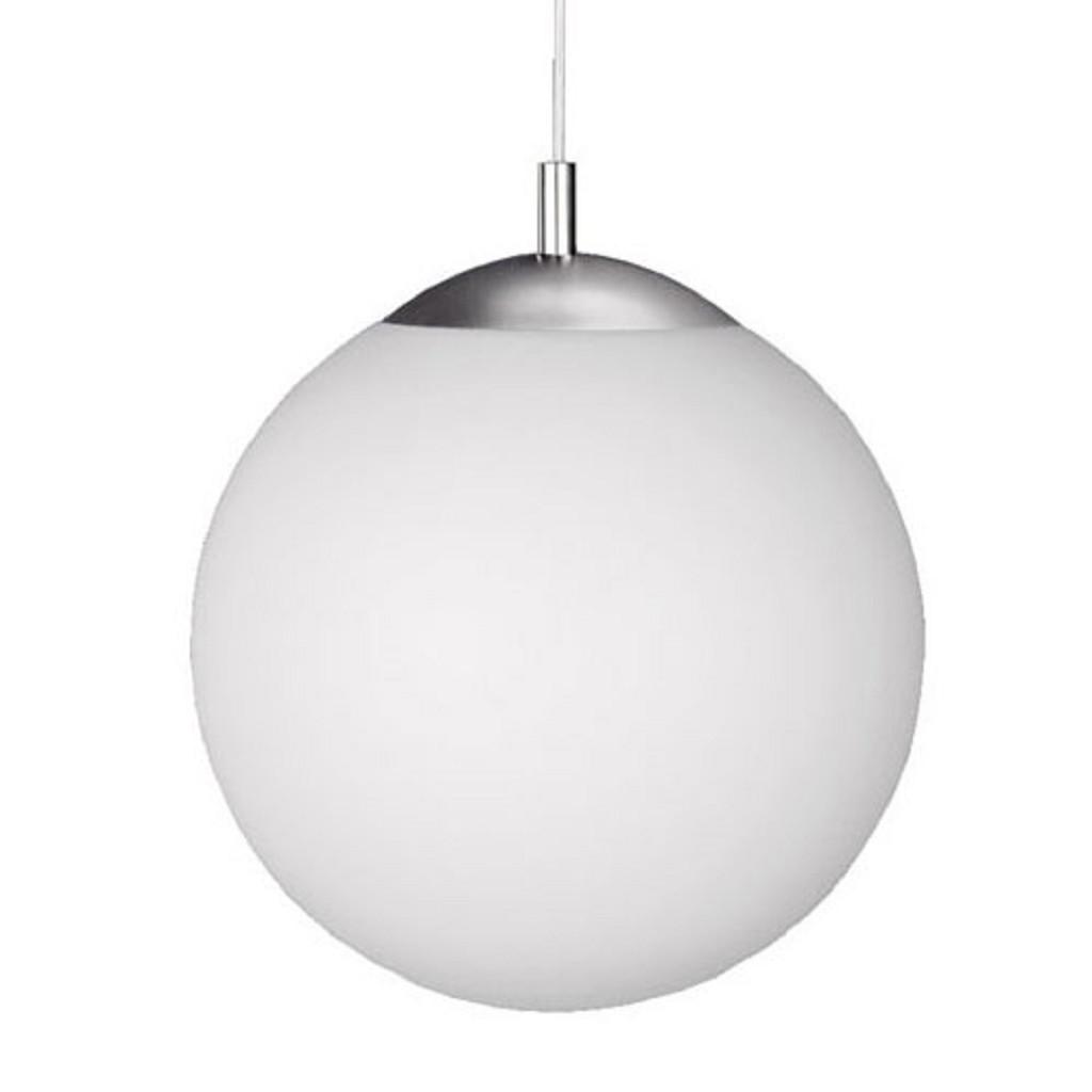 **Moderne hanglamp bol wit glas, keuken