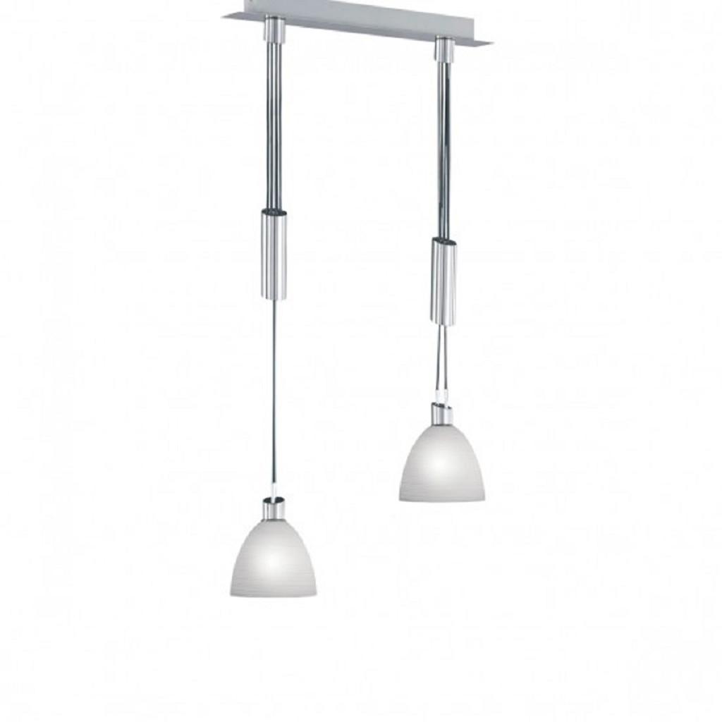 Hanglamp nikkel mat, wit glas