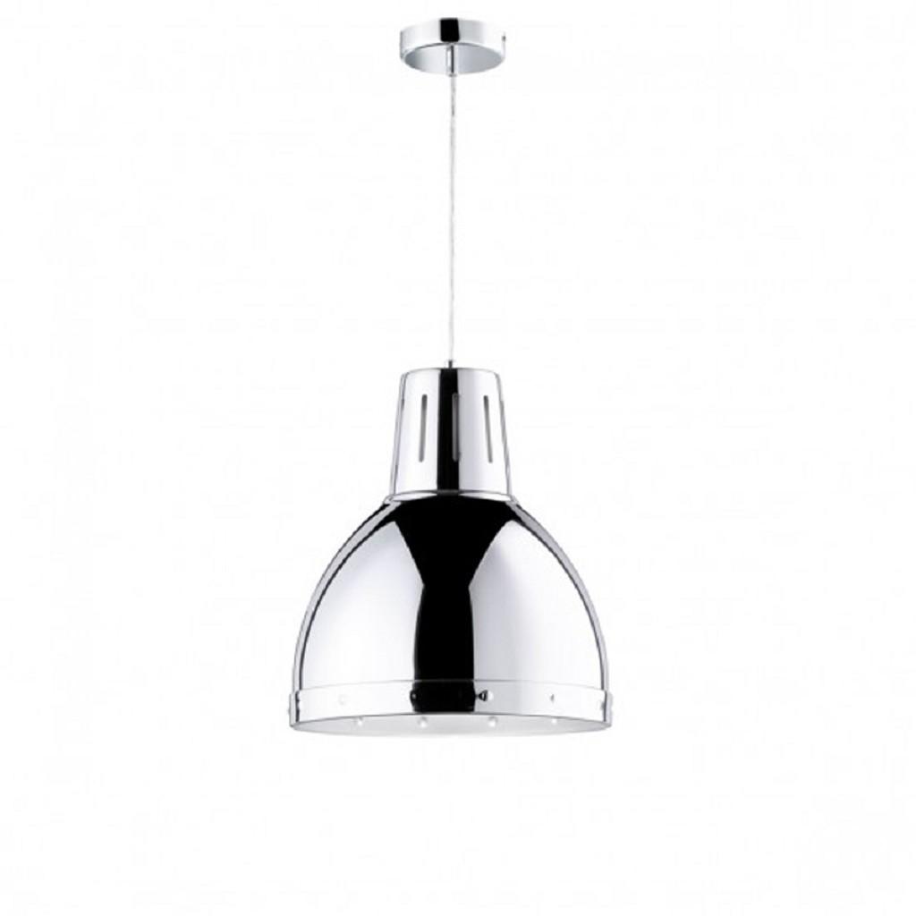 Hanglamp groot chroom modern