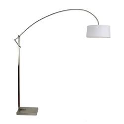 Verstelbare booglamp staal kap wit