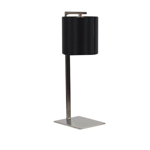 Moderne stalen tafellamp met kap zwart